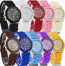 Unisex Cool Colorful Geneva Silicone Jelly Gel Quartz Analog Sports Wrist Watch