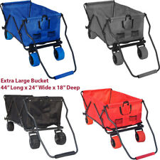 Folding Wagon Collapsible Utility Cart Beach Wagon Garden Buggy Outdoor Wagon