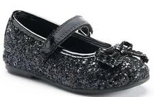 Girl's Toddler RACHEL SHOES LIL MARGIE Black Mary Jane Flats Dress Shoes New