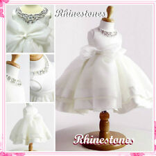 NWT Off White Christening Wedding Party Flower Girls Dresses SIZE 2,3,4,5,6,7,8T