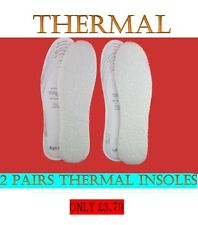 New Thermal Insoles Shoes Boots Soft Padded Odour Eaters