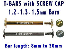 WATCH SCREW PINS, WATCH STRAP BAND SCREW BAR, WATCH BAND SCREW-IN SPRING PIN BAR