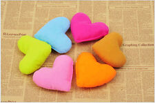 Small Pet Dog Cat Lovely Heart-Shaped Bedding Pillow Soft Chew Play Toy Colorful