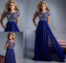 2015 Royal Blue Formal Evening Party Dresses Pageant Prom Dress Gown