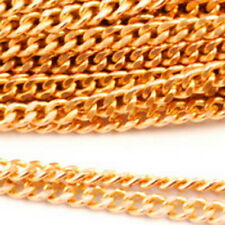 Brass Chain Soldered Link Curb Chain Silver Black Bornze chains 10ft c12 PICK