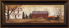 """PUMPKINS FOR SALE"" by Billy Jacobs 9x21 FRAMED PRINT Wagon Barn Autumn Fall"