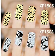 1 Sheet Leopard Snake Pattern Manicure Water Decals Nail Art Transfers Sticker