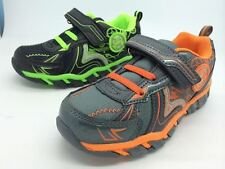 Little Boys Pro Active Light Up Runners Sneakers Size 7-13 GRN or ONG