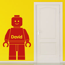Lego Wall Sticker Personalised - 2 sizes 18 colour choices