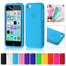 Silicone Rubber Gel Case Cover Skin For Apple iPhone 5C Free Screen Protector