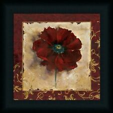 Poppy by Richard Henson Ruby Red Floral Framed Art Print Wall Décor Picture