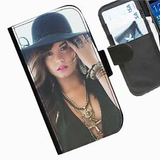 Demi Lovato Leather wallet personalised phone case for Google Nexus 5 and 6