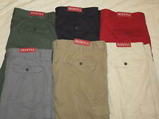 NEW Men's Merona red flat front 100% cotton cargo shorts sizes 38 40 46 NWT