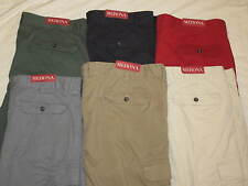 NEW Men's Merona flat front 100% cotton cargo shorts flat front colored NWT