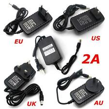 AC 100 - 240V To DC 12V 2A Power Supply Adapter Plug+USB Cable For CCTV Camera