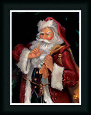 Shh Santa Claus Old Fashioned St Nick Framed Art Print by Susan Comish 17x13