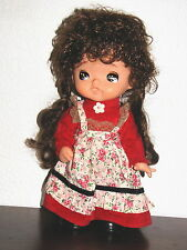 RARE Watanabe Toys Co. ANIME JAPANESE ASIAN CARTOON DOLL Red Dress 11""