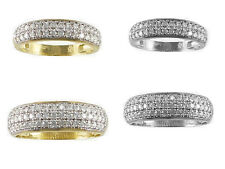 His & Her 10kt Yellow/White Gold CZ Duo Engagement Ring Wedding Band Set