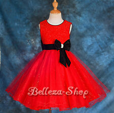 Flower Girl Wedding Pageant Tulle Party Formal Occasion Dress Size 18mon-7 FG145