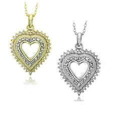 925 Silver 1/2ct Diamond Heart Necklace (IJ-I3)