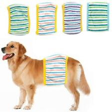 Male Pet Dog Health Physiological Pants Striped Sanitary Diaper Nappy Size S/M/L