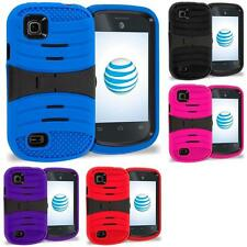 For ZTE Avail 2 Z992 Z993 Prelude AT&T Hybrid Heavy Duty Armor Case Cover Stand