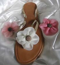 Flower Clips with Button Centre for Flipflops / Sandals & Shoes