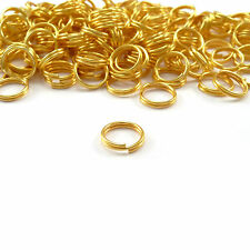 Hot 80-300Pc Gold Plated Open Double Split Jump Rings Connectors Findings 4-14mm