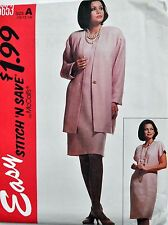 McCalls Sewing Pattern # 6653 Misses Unlined Cardigan and Dress Choose Size