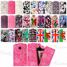 Printed Leather Flip Wallet Case Cover Pouch For LG Phones Free Screen Protector