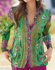 MARISOTA CHANGES BY TOGETHER BUTTERFLY CRINKLE STYLE BLOUSE SHIRT NEW SIZE 12-20
