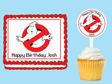 Ghostbusters Edible Birthday Cake Topper Cupcake Image Decoration