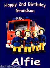 PERSONALISED Birthday Card ANY NAME ANY AGE etc.Fireman Sam/Bus/Scooter/BMX Bike