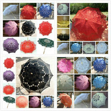 Multi-color Antique Princess Lace Parasol Umbrella Fan Wedding Party Decoration