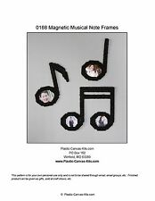 Musical Notes Magnetic Picture Frames- Plastic Canvas Pattern or Kit