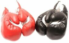 2 Pair of New Boxing / Punching Gloves and Fitness Training Red and Black