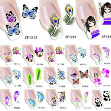 Mixed Color Animal Nail Art Sticker Decals Stamping Acrylic Manicure Decoration