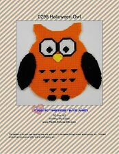 Halloween Owl Wall Hanging-Plastic Canvas Pattern or Kit