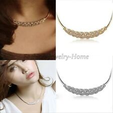 Women Jewelry Pendant Chain Crystal Choker Chunky Statement Bib Charm Necklace