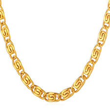 Men's Jewelry 316L Stainless Steel 18K Gold Plated 6MM Snail Chain Necklaces