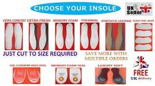 Shoe Insoles Cushions Comfort Memory Foam Heel Support Pad Insoles Thermal LUX
