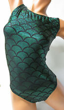 FlipFlop Leos Gymnastics Leotard,  Gymnast Leotards - EMERALD MERMAID