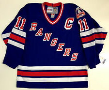 """MARK MESSIER NEW YORK RANGERS CCM VINTAGE 1994 STANLEY CUP BLUE JERSEY WITH """"C"""""""