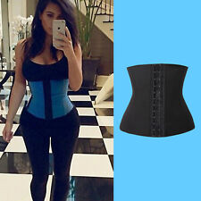 Waist Cincher Trainer Body Tummy Girdle Control Corset Black Sport Body Shaper #