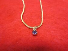 "14 KT GOLD PLATED 10 1/2"" SNAKE CHAIN ANKLET WITH AUSTRIAN CRYSTAL BIRTHSTONE"