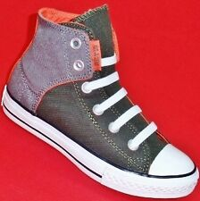 NEW Boy's Youth's Hunter Green/Gray/Orange CONVERSE ALL STAR Sneakers Shoes