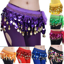 9 Colors Belly Dance Hip Scarf Belt Skirt Belly Dancing Costume Colorful Sequins