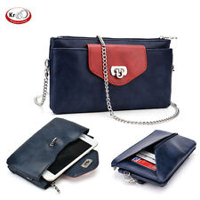 Universal Clutch Wallet Purse with Crossbody Chain fits Smartphone upto 5.7 Inch