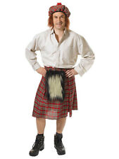 Fancy Dress Scottish Scots Burns Night Kilt Plus Tam Oshanter Stag Kit Adult New