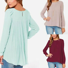New Lady's Chiffon Loose Chiffon Tops Long Sleeve Shirt Casual Blouse